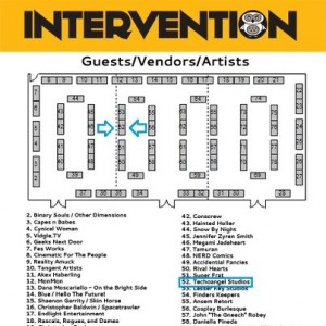 Intervention 2012 Guests/Vendors/Artists map