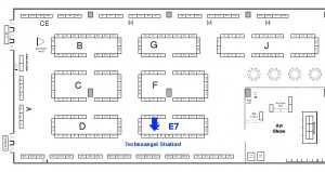 Diagram of Katsucon Artist Alley
